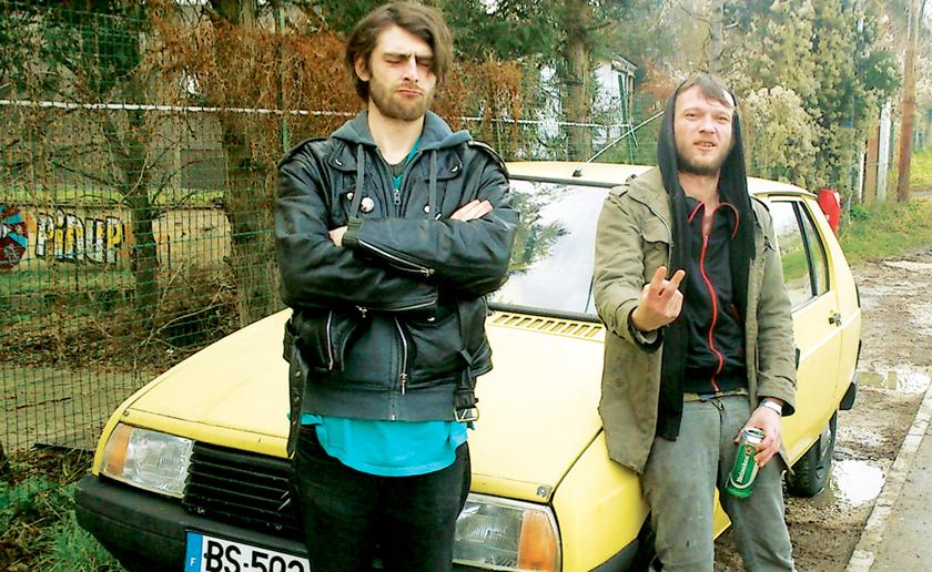 La photo illustrant la pochette de l'album Rise - Geoffroy Laporte est à gauche