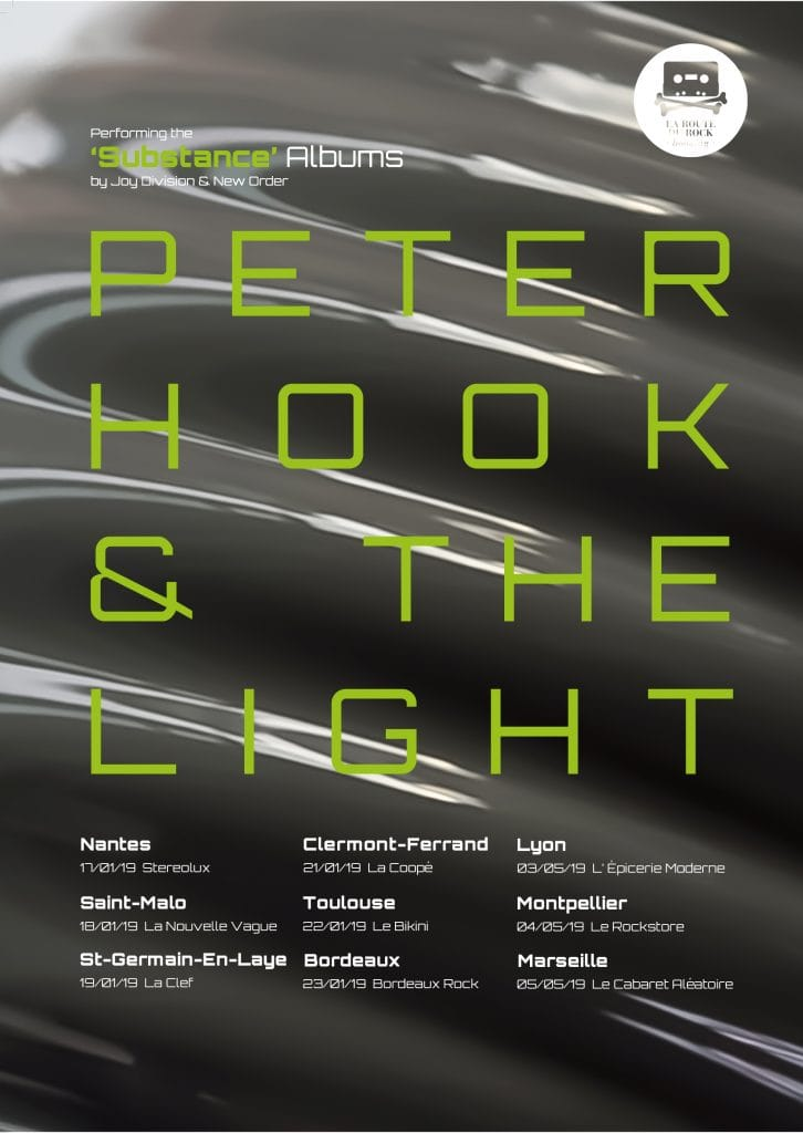 Peter Hook and the Light en tournée dans toute la France!