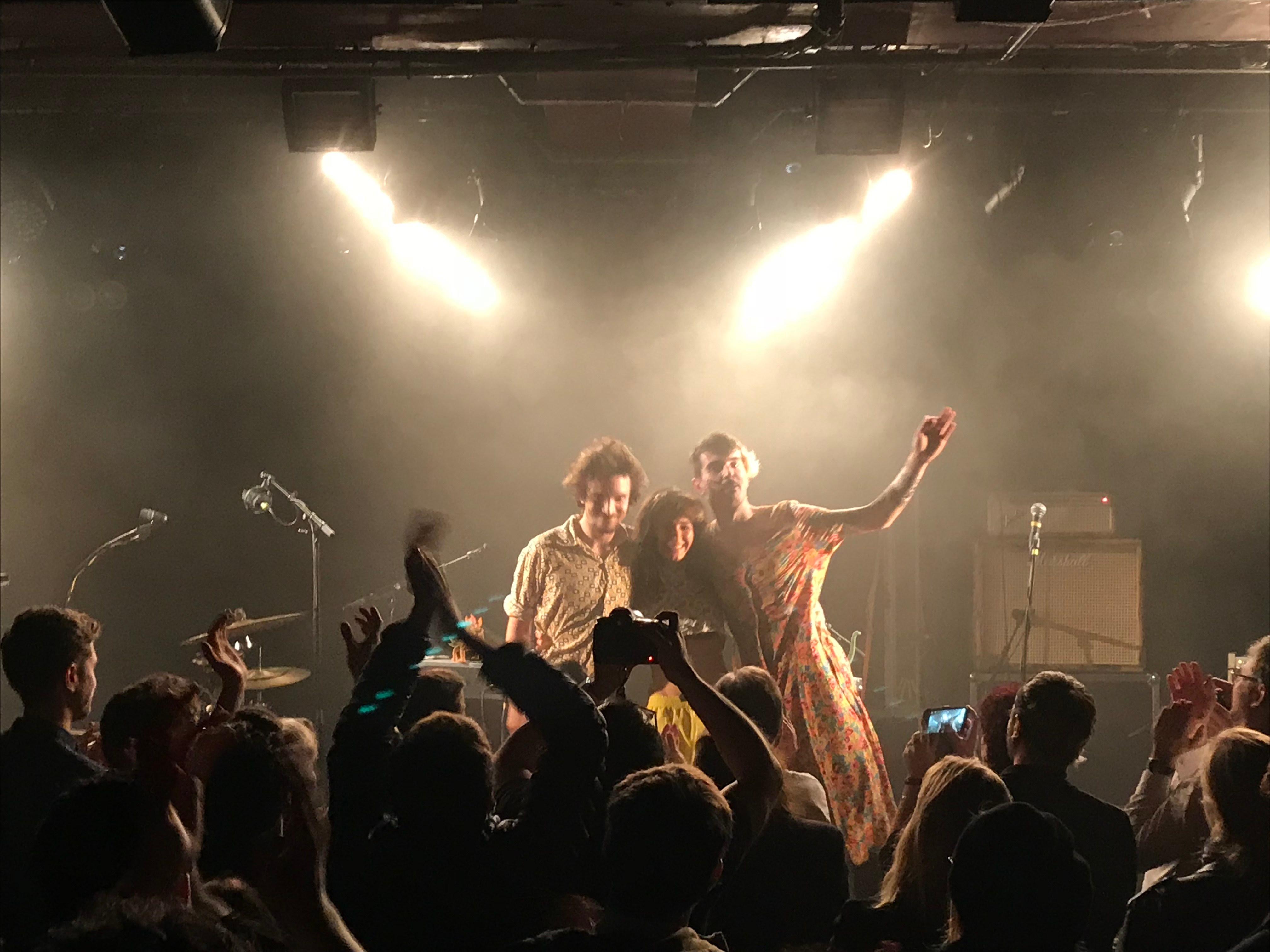le trio de rock-pop, Thé Vanille, sur la scène de la Maroquinerie le 10.01.19