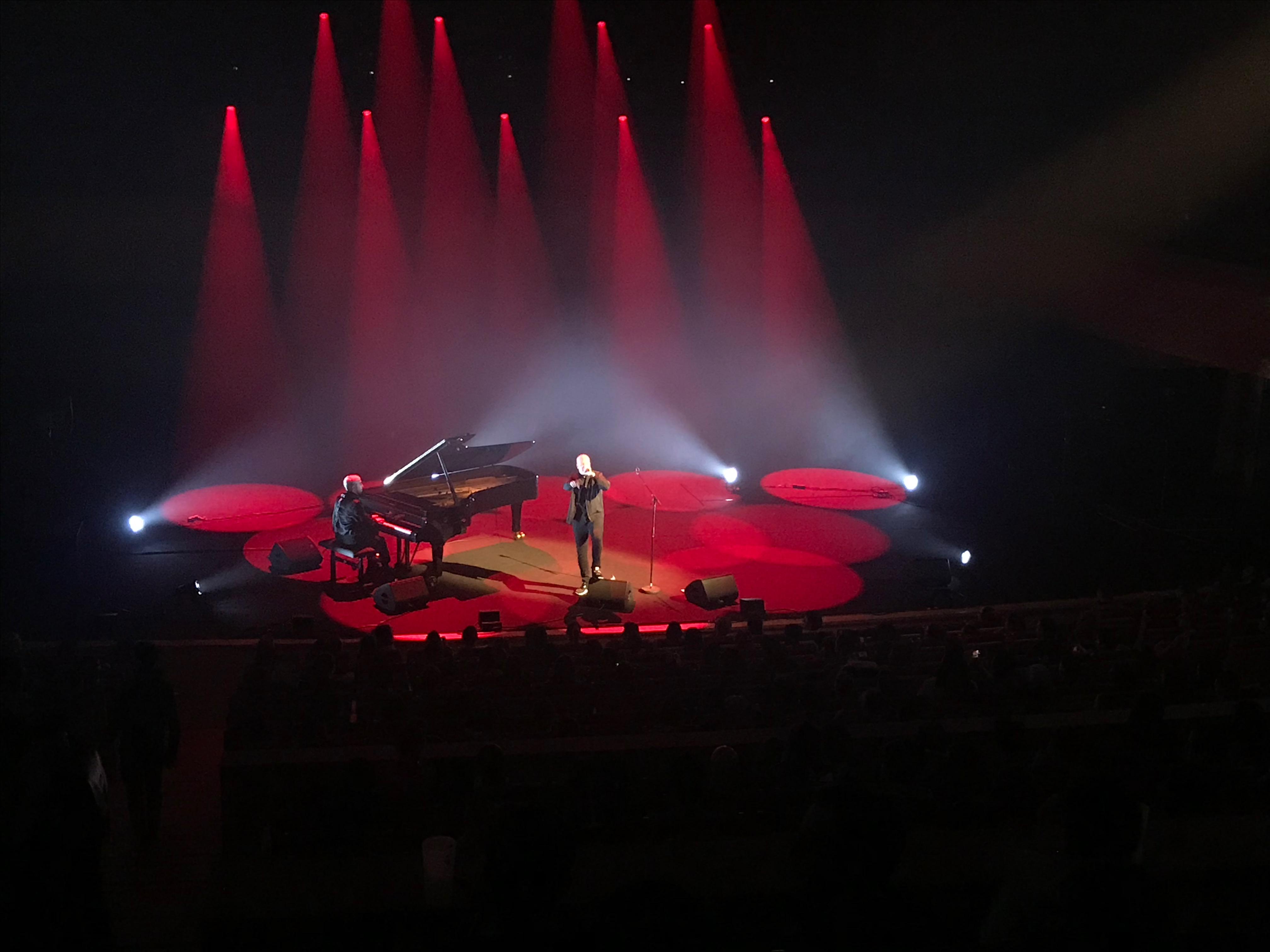 Scylla & Sofiane sur la scène de l'auditorium de la Seine Musicale pour le festival Chorus, dimanche 7 avril 2019. ©: @saint_xsl1