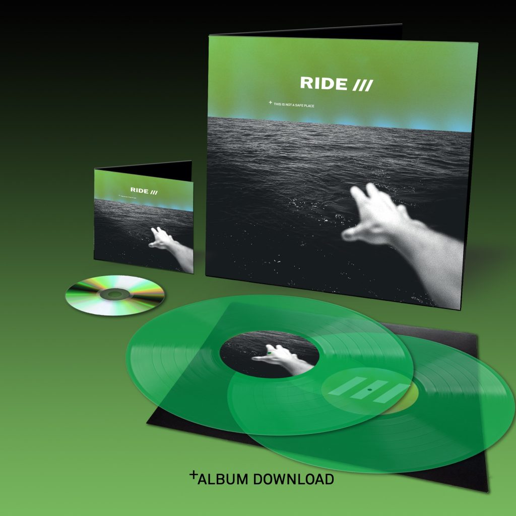 Ride,This is not a safe place, CD, vynil… verts