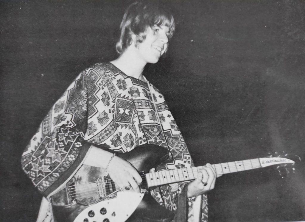 Terje Rypdal 1967 et sa guitare Rickenbacker
