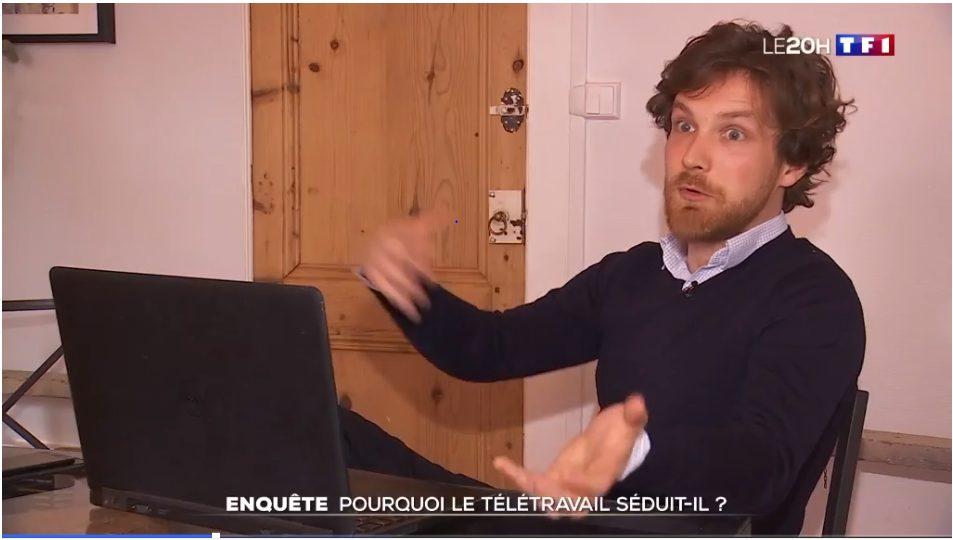 Pourquoi le télétravail séduit-il - 2020 @TF1