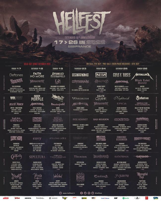 Hellfest 2022 - Programmation complète